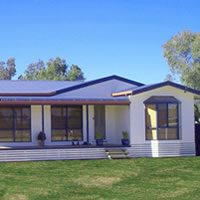 A new build transportable home on a property in NSW